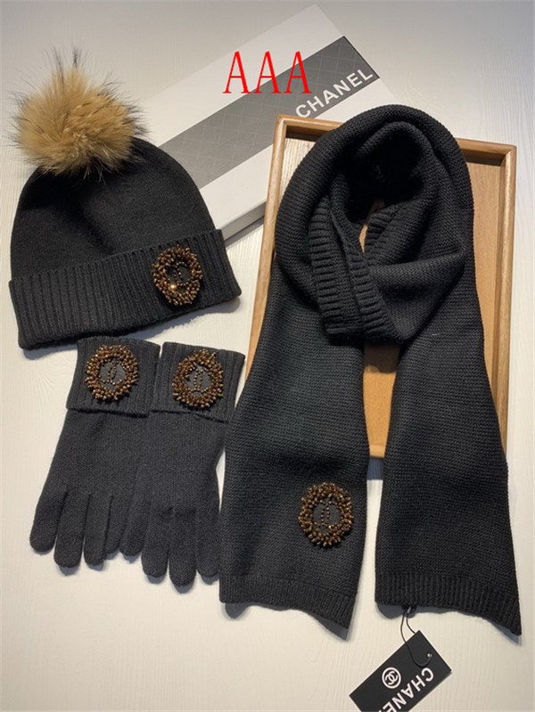 Chanel Hat and scarvf(AAA)-059