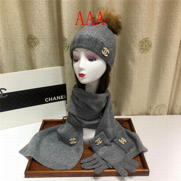 Chanel Hat and scarvf(AAA)-063
