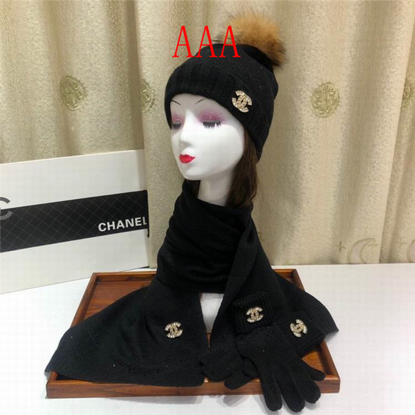 Chanel Hat and scarvf(AAA)-065